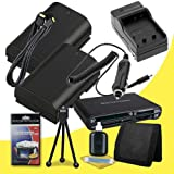 Two Canon EOS 70D DSLR Camera with 18-55mm STM f/3.5-5.6 Lens LP-E6 Lithium Ion Replacement Battery and External Rapid Charger + Mini HDMI Cable + Multi Card USB Reader + Memory Card Wallet + Deluxe Starter Kit  DavisMAX Accessory Bundle