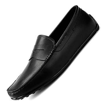 YAN Calzado de conducción para Hombres Cuero Mocasines de Primavera/Verano y Zapatillas sin Cordones
