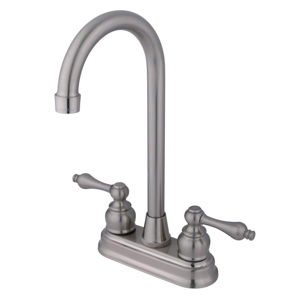 Elements of Design Magellan EB498AL Centerset High-Arch Bar Faucet, 4-Inch, Satin Nickel by Elements of Design
