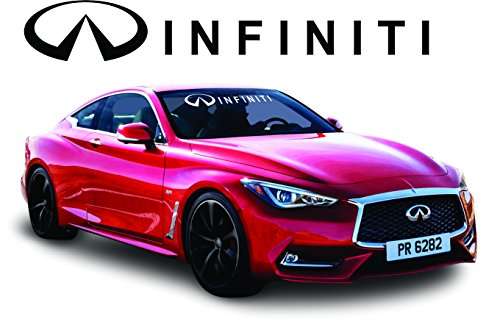Infiniti White Windshield Tint Strip Decals