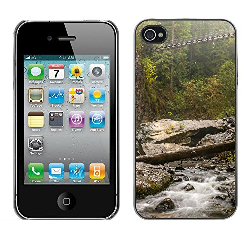 Premio Sottile Slim Cassa Custodia Case Cover Shell // F00017228 Mountain river // Apple iPhone 4 4S 4G