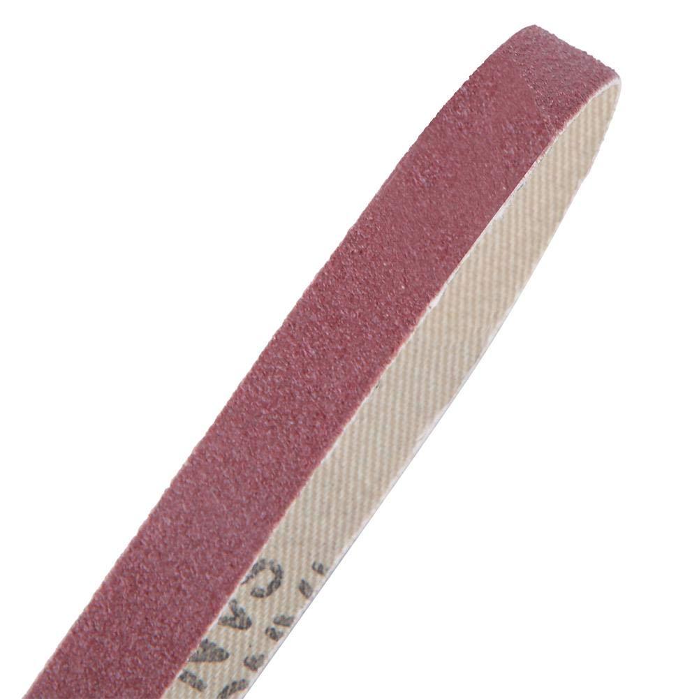 10PCS Ceinture de pon/çage Papier abrasif /à loxyde daluminium Sander Bande abrasive 533 x 9mm 120#