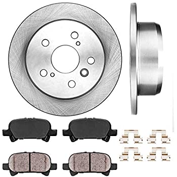 Front Drill Slot Brake Rotors /& Ceramic Pads For 2002 2003 2004 2005 2006 Camry