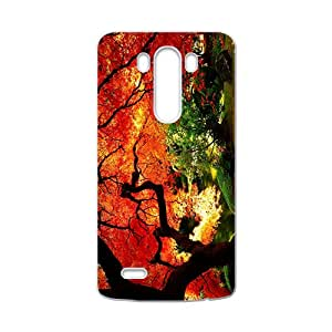 Charming Orange Red Tree High Quality Custom Protective Phone Case Cove For LG G3
