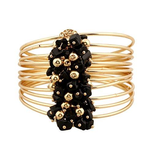 (Superhai Bohemian Creative Simple Multilayer Resin Bracelet Double Bracelet Made of Stone)