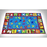 Kid Carpet Bible Sunday School Rug with ABCs, 7'6'' x 12'