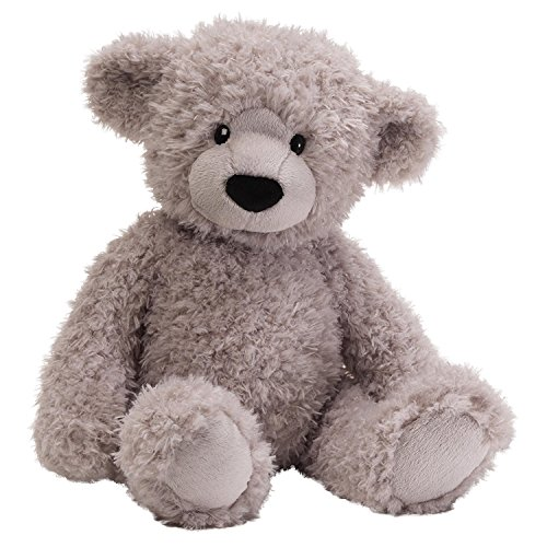 (GUND Dijon Grey Teddy Bear 17 inch Plush Furry Stuffed)