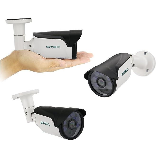 SV3C 1080P POE Cámara IP, Cámara de Vigilancia Seguridad Exterior con 2.8MM-12MM Lente varifocal,15M Visión Nocturna, Impermeable IP66,Compatible con iOS y ...