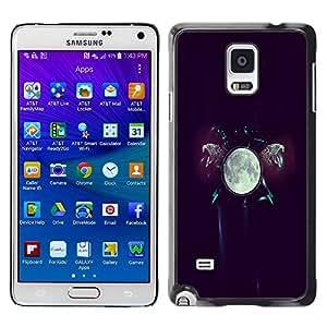PC/Aluminum Funda Carcasa protectora para Samsung Galaxy Note 4 SM-N910F SM-N910K SM-N910C SM-N910W8 SM-N910U SM-N910 The Moon Glow / JUSTGO PHONE PROTECTOR