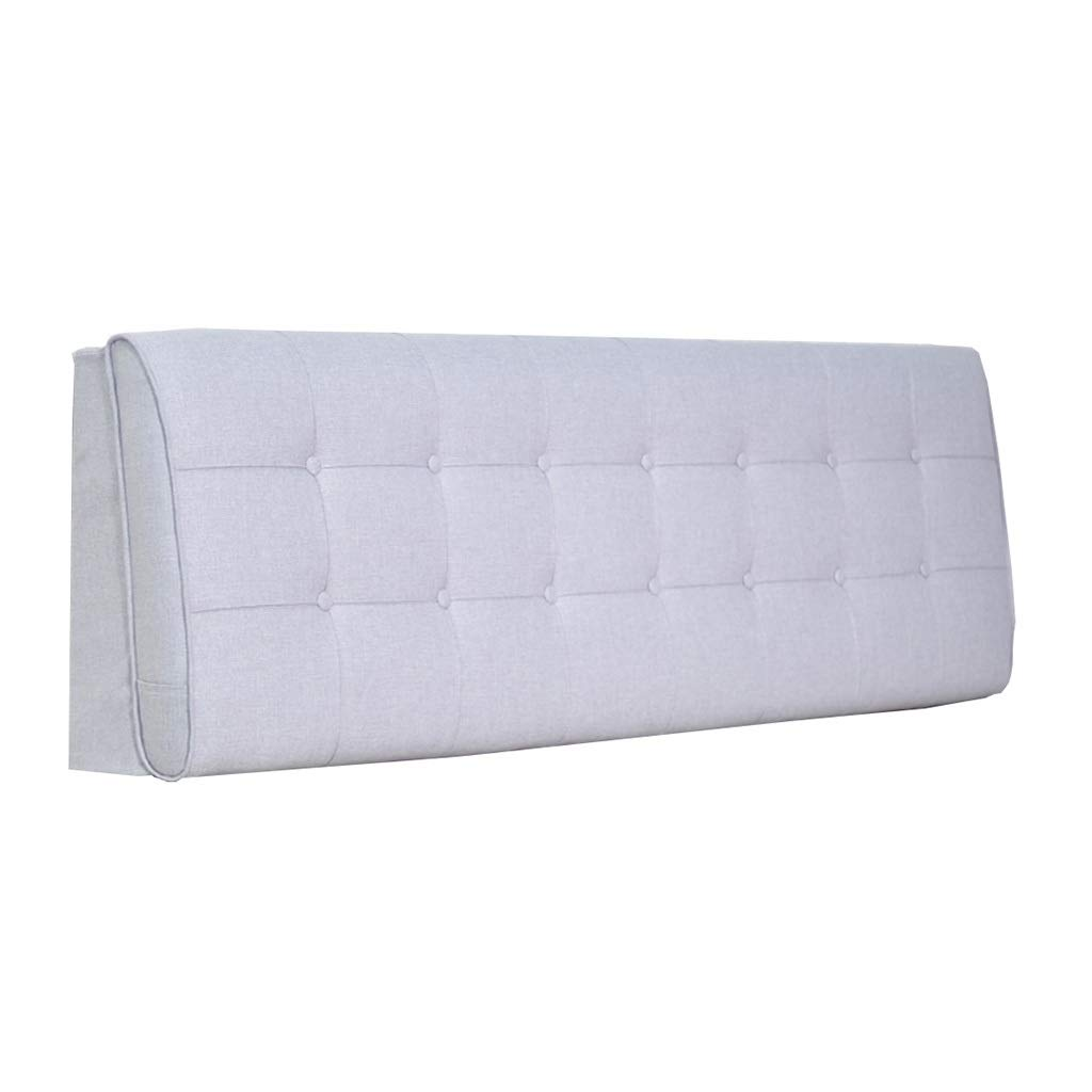 ZHWNGXO Three-Dimensional Bed backrest Pillow Large Bed Head Cushion Reading backrest Cushion Pp Cotton (Color: Brown Size: 120cm) (Color : Gray, Size : Bed Head 150cm×60cm)
