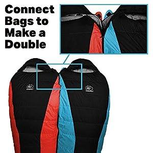 Outdoor Vitals Atlas 15°F Lightweight Down Sleeping Bag with Compression Sack & (Blue, Regular)