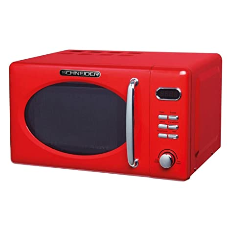 Schneider MW720 fr Microondas, color rojo: Amazon.es ...