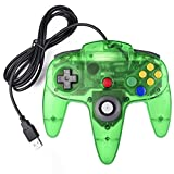 Classic Nintendo 64 Controller, iNNEXT N64 Wired USB PC Game pad Joystick, N64 Bit USB Wired Game stick Joy pad Controller for Windows PC MAC Linux Raspberry Pi 3 Sega Genesis Higan (Jungle Green)
