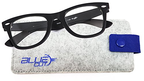 Price comparison product image Blue Light Blocking Glasses – Anti-Fatigue,  Anti-Glare Computer Glasses – Perfect for Computer,  Phone,  Tablet,  TV Usage – Prevent Headaches and Improve Sleep with UV-Blocking Gamer Glasses by Blue Cut