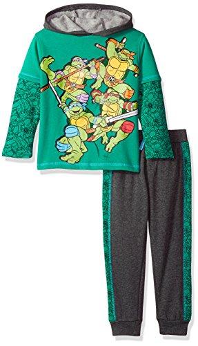 Nickelodeon Little Boys' 2 Ninja Turtles Fleece Set With Piecing, Green, 7