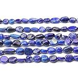 JARTC Natural Irregular Shape Stone Beads 6-8mm Lapis Lazuli Gemstone Energy Cured for Jewelry Making Necklaces