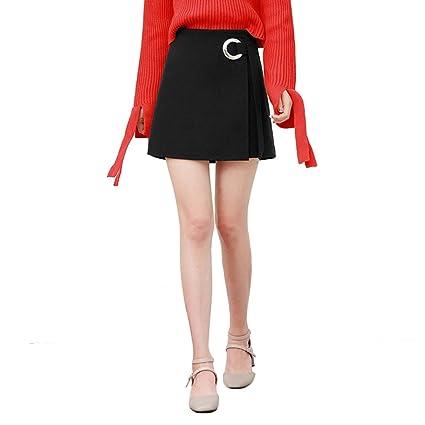 TSINYG Falda corta de cintura alta elegante de moda de las mujeres ...