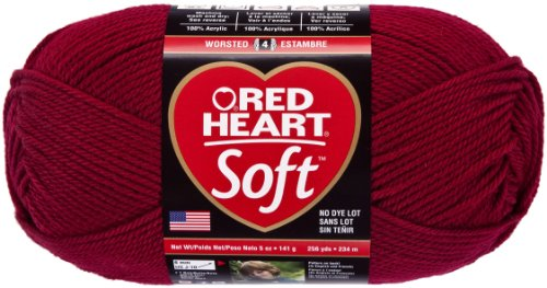 Red Heart Soft Yarn, Wine