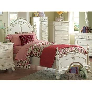 this item cinderella full bed by homelegance in off whitecream - White Full Bed Frame