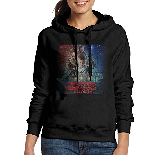 [UFBDJF20 Stranger Things Fleece Hoodie For Women XL Black] (V The Series Costumes)