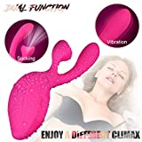 Wireless Waterproof Handheld Wand Massager with Heating Mode - Medical Silicone,USB Rechargeable,Powerful but Quiet Sucking Toys