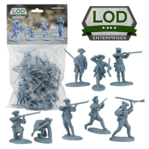 Revolutionary War Colonial Minutemen Plastic Toy Soldiers from LOD