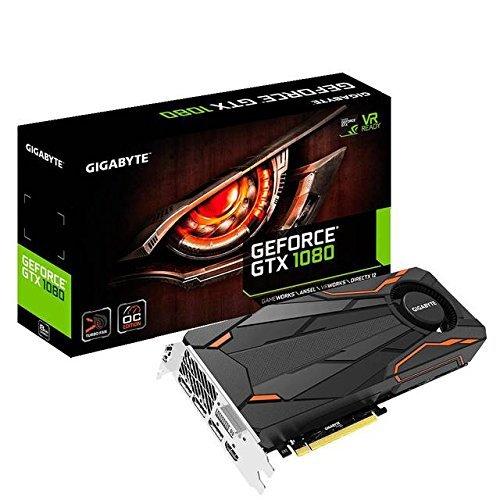 Gigabyte GeForce GTX 1080 Turbo OC 8GB Video Graphics Cards GV-N1080TTOC-8GD (Certified Refurbished)