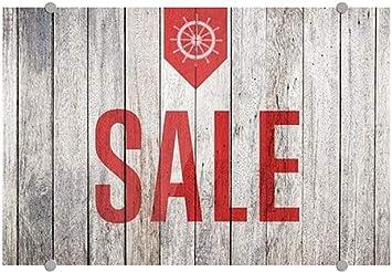 Sale 27x18 CGSignLab Nautical Wood Premium Brushed Aluminum Sign