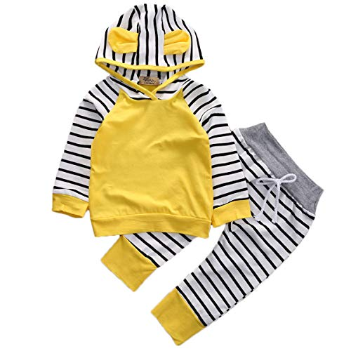 Toddler Baby Girl Boy Lovely Rabbit Ear Stripped Hoodie for sale  Delivered anywhere in USA