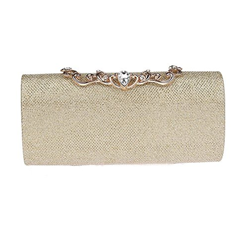 Clutch Gold Bag for Weddings Rhinestone Vintage Bag Red Handbag with Evening Purse Clutch Prom Rose Puluo Women and gqx5pT7w