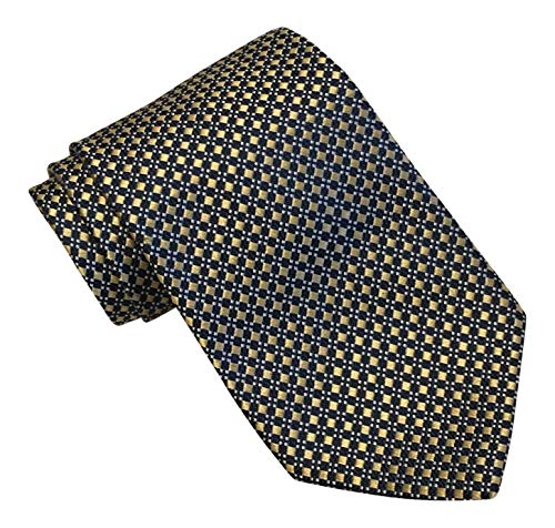 Brooks Brothers 346 Yellow Blue Whites Geometric Textured Tie Brooks Brothers Silk Tie