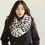 KAKA(TM Women's Korean Artistic Stylish Winter Grid Knitting Wool...