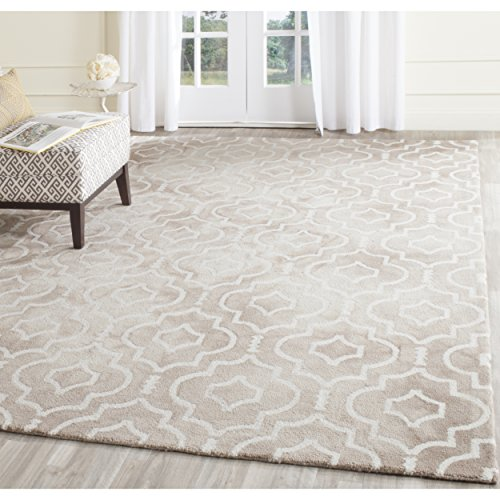 Cheap Safavieh Dip Dye Collection DDY538G Handmade Geometric Moroccan Watercolor Beige and Ivory Wool Area Rug (10′ x 14′)