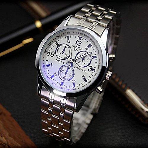 Chronos Análogo de la cinta de acero inoxidable yazole 271 reloj de pulsera de