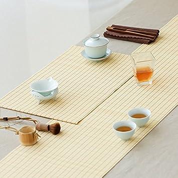 Bamboo Tischlaufer Retro National Style Prints Bambus Matten Tisch