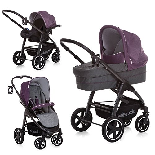 Hauck Soul Plus Trio Set Travel System, Berry