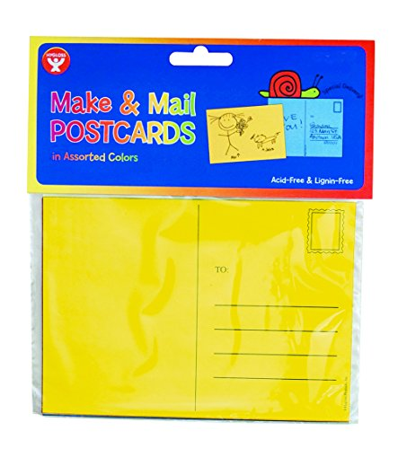 Hygloss Make and Mail Postcards, 4-Inch x 5.5-Inch,