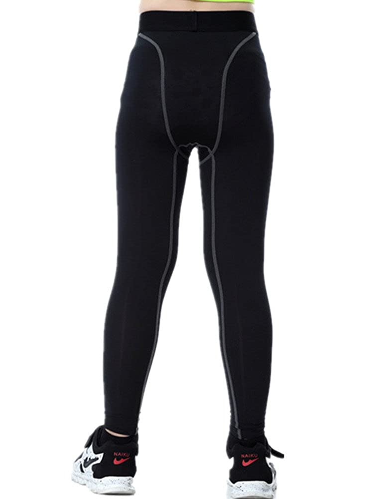 79692b4fa5148 Amazon.com: Boys Compression Pants Base Layers Soccer Hockey Tights  Athletic Leggings Thermal for Kids: Clothing