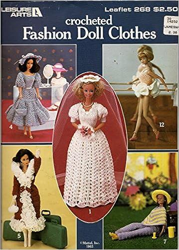 Crochet Dress Gown and Bonnet for 2 1//2 inch Doll Handmade All White