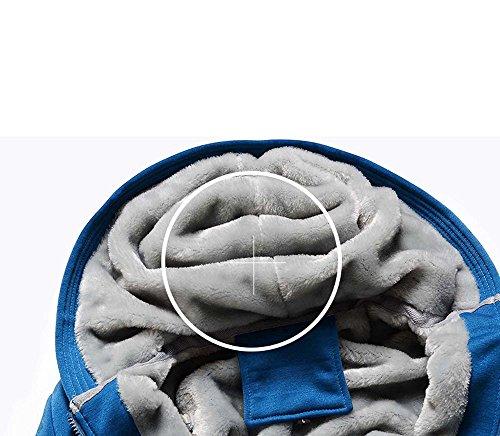 Giubbotto Uomo Cappotti Autunno Manica Blu Outwear Giacchetta Cappotto Caldo Lunga Giacca Elegante Invernale Piumino Felpa HID9E2