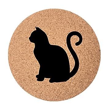 Posavasos de gato colección – regalos de gato – Juego de 4 posavasos – Juego de