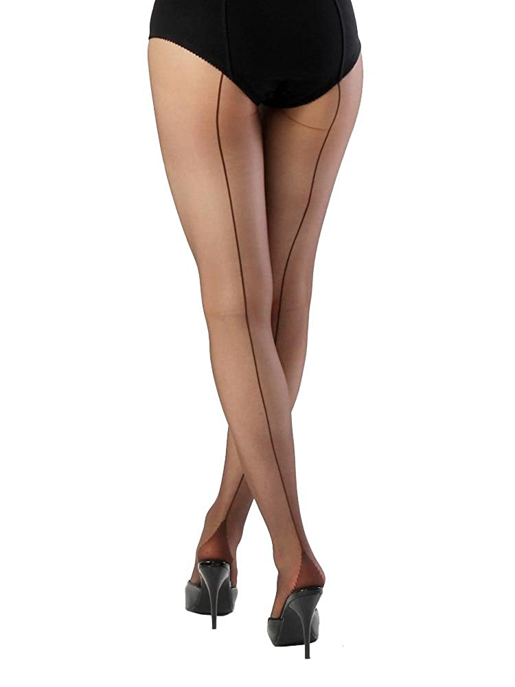 Retro Lingerie, Vintage Lingerie, 1940s-1970s What Katie Did Seamed Tights Black £10.00 AT vintagedancer.com