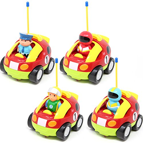 51hopF4HEnL - JOYIN Cartoon RC Race Car Radio Remote Control with Music and Sound for Baby and Toddler Toys, School Classroom Prize, Children Holiday Toy for 2 Year Old