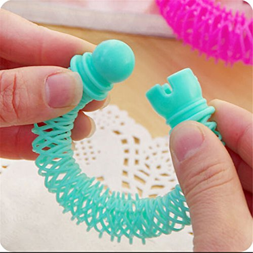 8Pcs New Hair Styling Roller er Plastic Hair Curler Curler Spiral Curls DIY Tool Hair Accessories by HAHUHERT (Image #2)