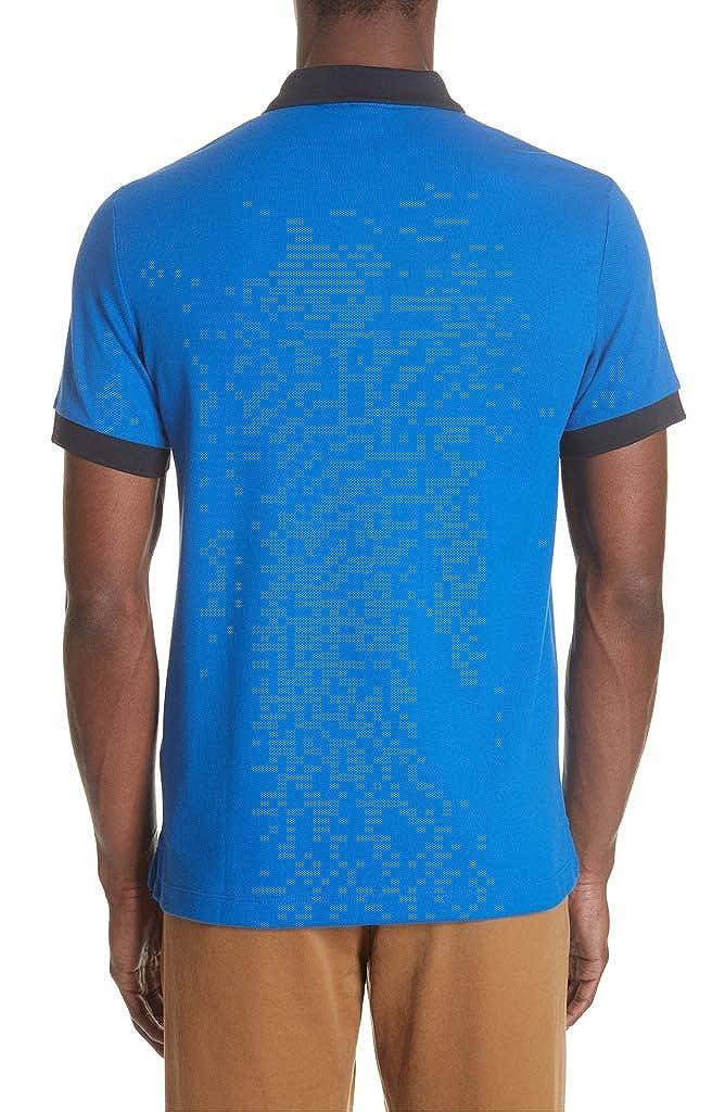 361402b4 BURBERRY Men's Hartford Check Trim Piqué Polo Shirt in Cerulean Blue at  Amazon Men's Clothing store: