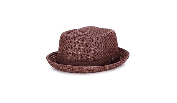 zhuzhuwen Sombrero Inglaterra Jazz Sombrero Malla Transpirable ...