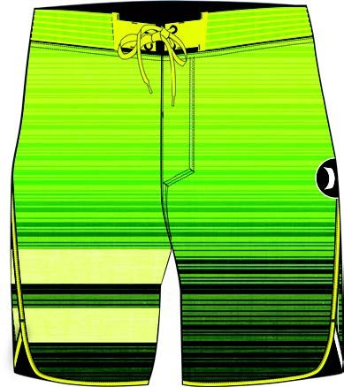 Hurley Phantom Bp Hyperweave Code, Color: Volt, Size: 34