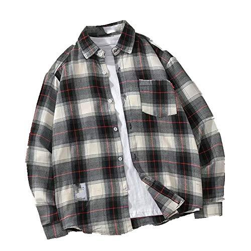 NOBRAND camisa suelta para hombre manga larga primavera y otoño para hombre