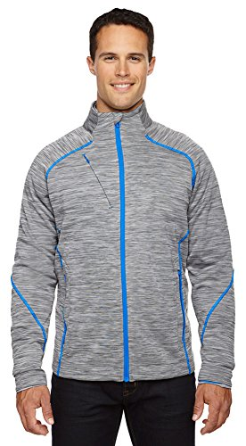 North End Sport Men's Flux Mélange Bonded Fleece Jacket, Medium, PLATINUM 837 (Bonded Fleece Outerwear)