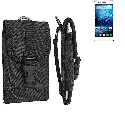 bolsa del cinturón / funda para Siswoo C55 Longbow, negro | caja del teléfono cubierta protectora bolso - K-S-Trade (TM)